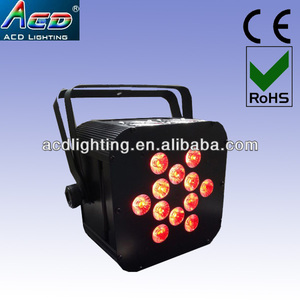 smaller christmas events popular 12*5in1 rgbwa battery powered wireless dmx led flat par lights