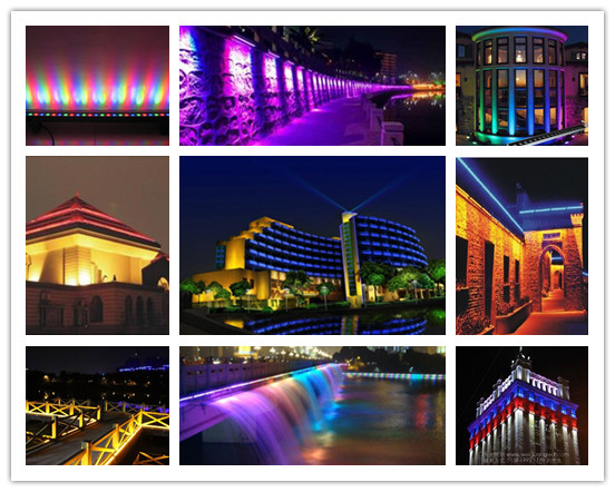 Outdoor Landscape Lighting Rgb Waterproof Led Wall Washer / Flood ...