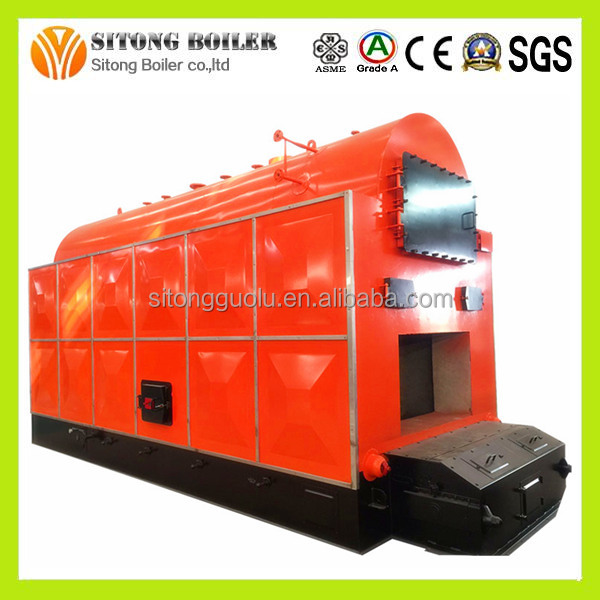 China Supply 4 TON Industrial Sunflower Palm Shell Steam Boiler