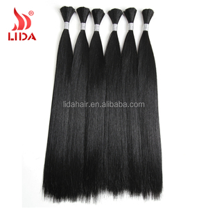 "China suppliers Long silky Straight nature Hair Bulk 18""-26"" Nature Hair Bulk Crochet Latch Hook Synthetic Extensions"