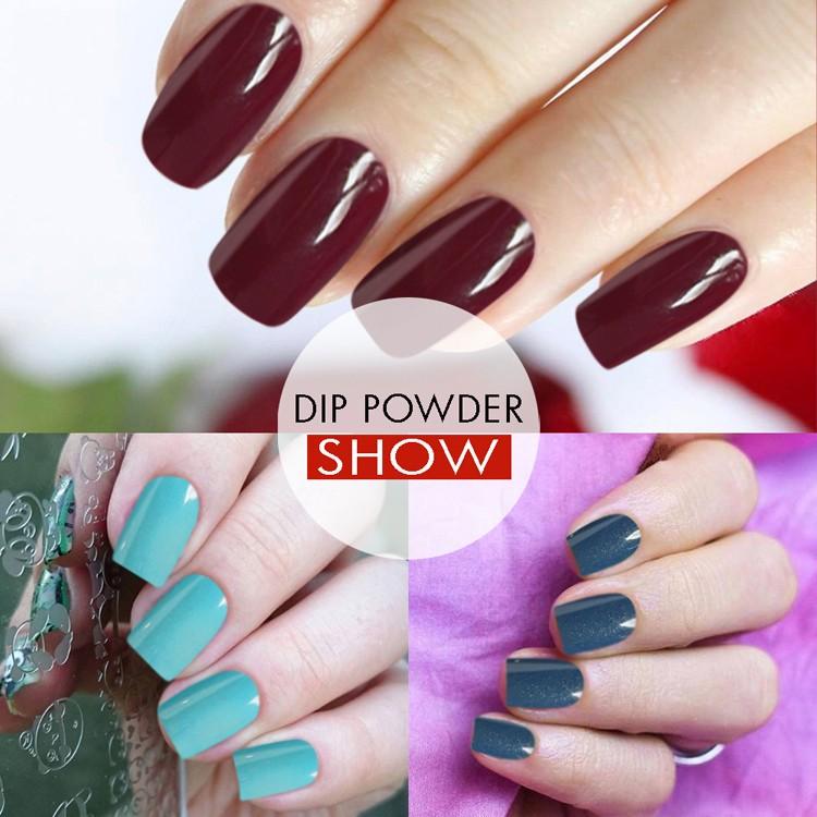 New 240 Colors No Lamp Cure Nails Dip Powder Color Acrylic Nail ...