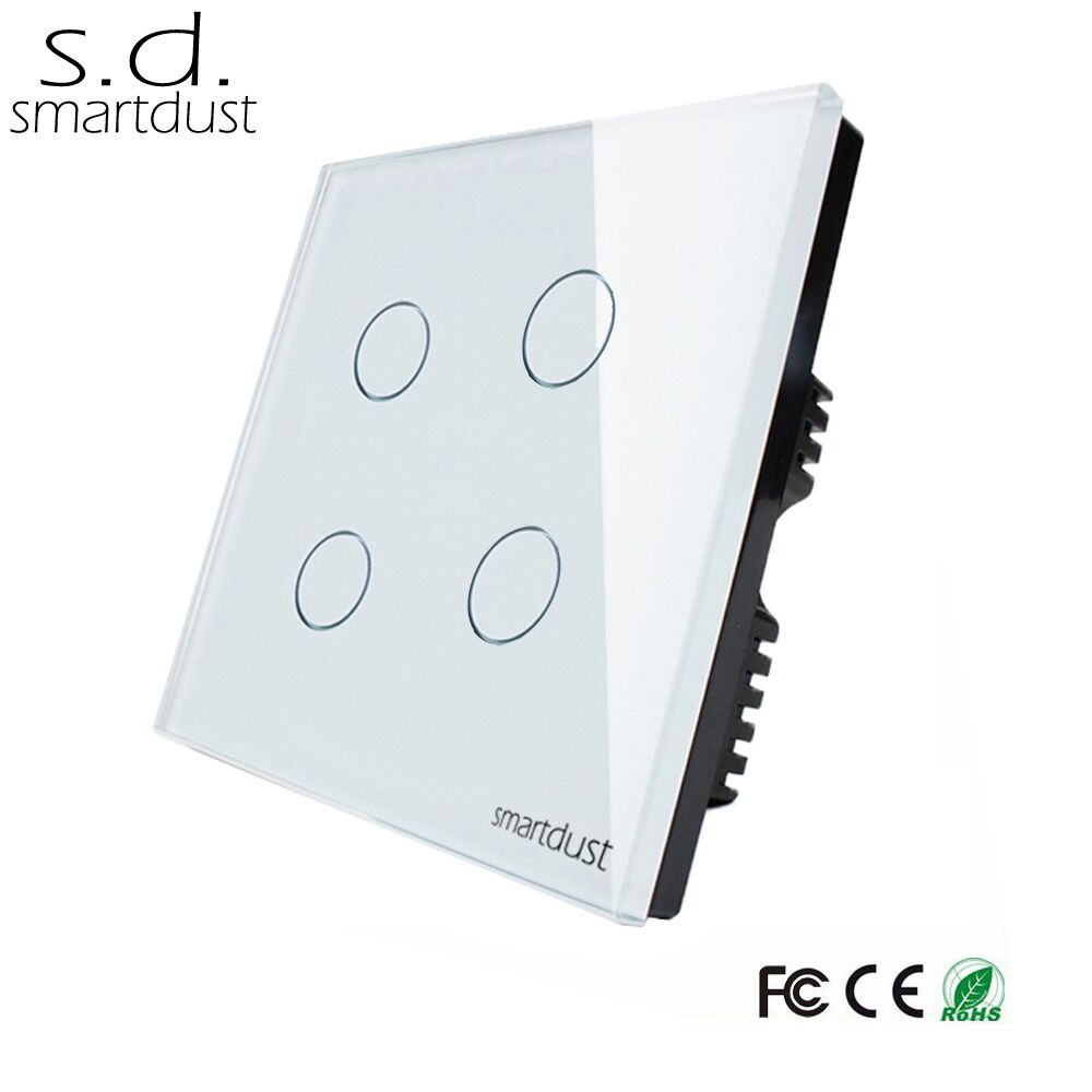 Wholesale 4 Gang Touch Switch Online Buy Best Way Controls Uk Tempered Glass Panel Strong4 Strong Stronggang
