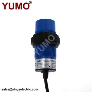 YUMO CM35 CM35-3025PC M30 25mm adjustable PNP NO NC level measuring  capacitive proximity switch sensor