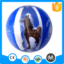 inflatable clear beach ball with toy inside
