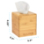 Rectangular unfinished100%bamboo wood box  household wooden tissue box paper box for sale