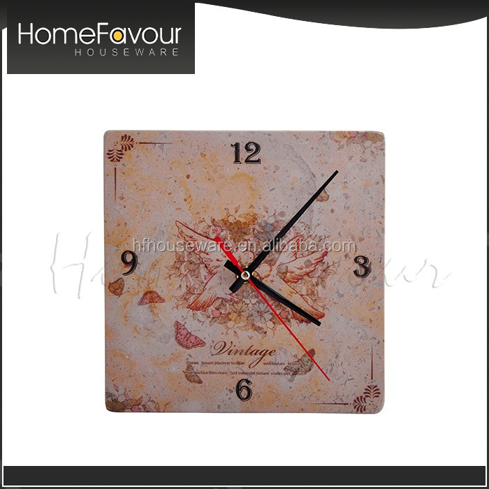 Dependable Factory House Decor Stone Wall Mounted Alarm Clock