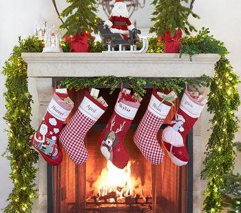 Wholesale Custom Personalized Christmas Stocking With Animals