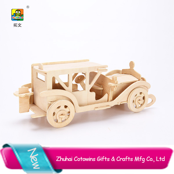 Promotion Gifts 3d Wooden Puzzle Model Kids Fsc Antique Unfinished Wooden Car Toys Vintage Car Toys Handmade Antique Wooden Car Buy Handmade Antique