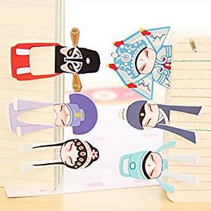 BuW Classical Beijing Opera Role Mini Bookmark (7PCS), office equipment school items office essentials