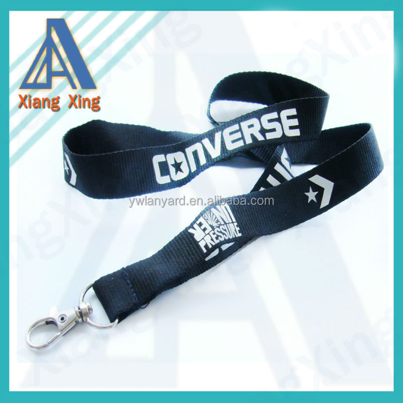 2018 cheap polyester lanyard with silk screen printing logo