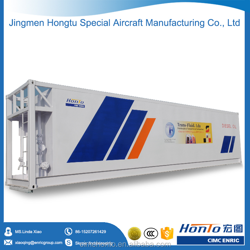 Large capacity fuel tank container gas station