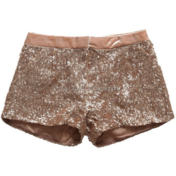 Fashion girls Sequin Shorts For Children Plus Size Sequin Shorts