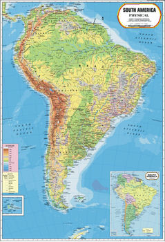 Soth America Physical Map - Buy Latin America Map Product on Alibaba.com