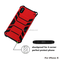 360 Full Protective Armor Cover Phone Case for iPhone x with Holster Swivel Belt Clip and Kickstand