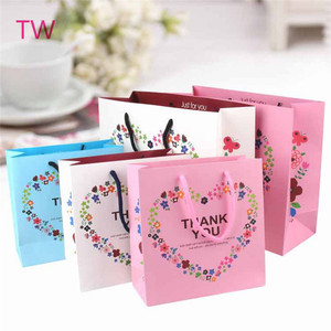 Cheapest price free samle Yiwu supplier personalized custom cartoon flower printing eco friendly gift bags paper 081