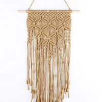 QJMAX Macrame Wall Hanging Woven Wall Art Macrame Tapestry Boho Home Decor