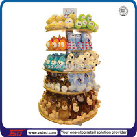 TSD-W002 cutom retail store free standing wood toy display rack,shop display fittings,plush toys display stand