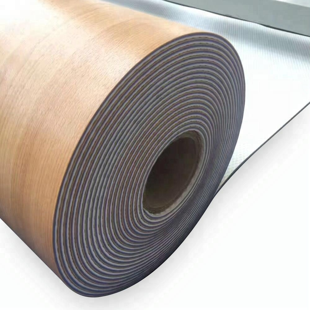 wood texture design  home use PVC flooring roll