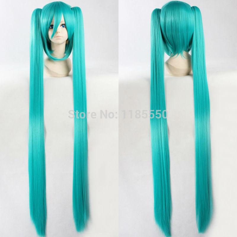 Горячая распродажа! 10 цветов Vocaloid хацунэ мику хвост длинные прямые синтетический волосы аниме