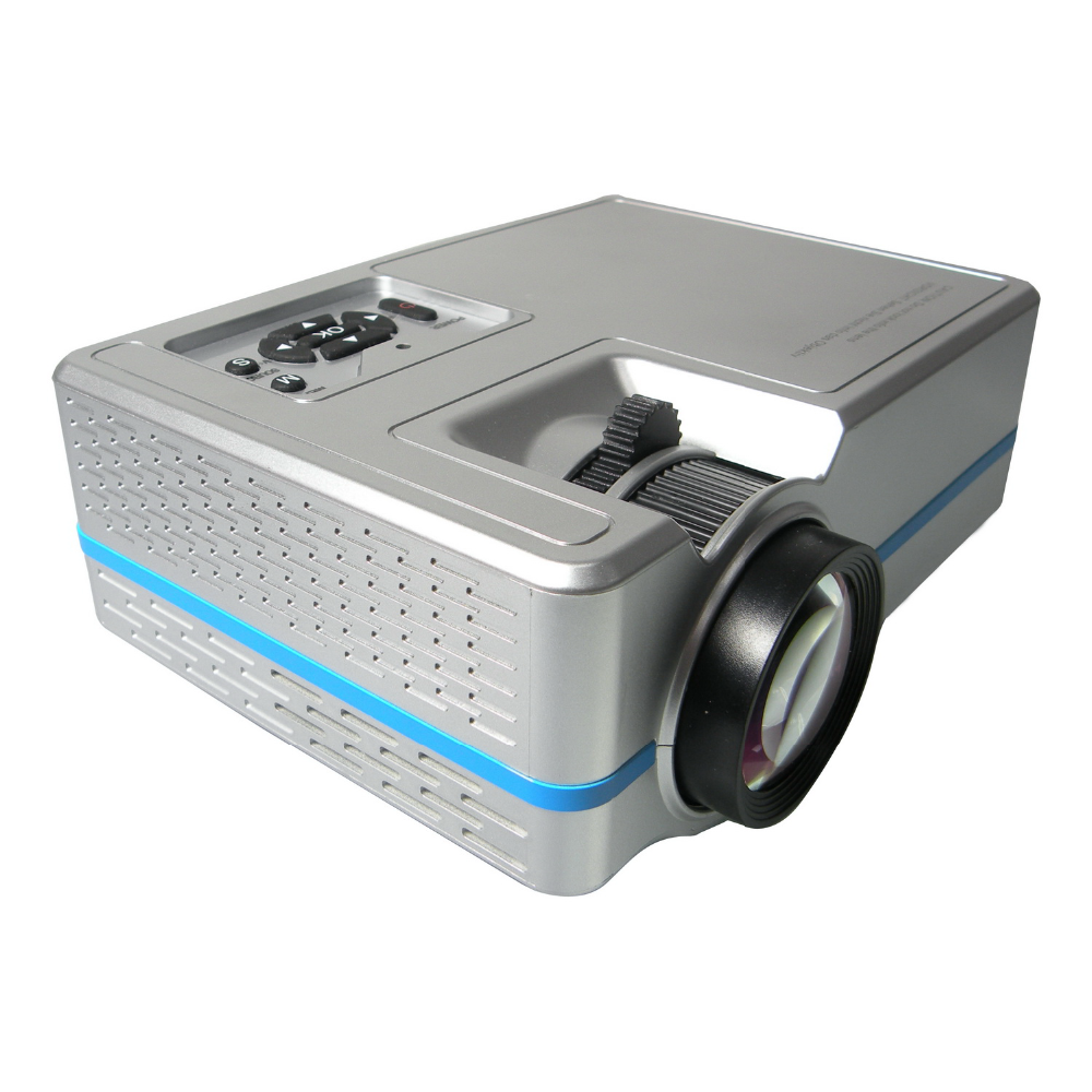New TRUE ANSI 120LM 150inch Glass Lens LED mini projector hd 1080p