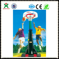 2016 hot sale!Anti-rust movable basketball stand anti-crack plastic basketball setfor kids portable basketball standQX-163F