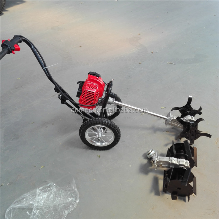 Cutter mower rotary weeder brush paddy hand weeder machine