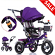2018 New Model Best Cheap Price Baby Kids Tricycle With Trailer/Children Tricycle Two Seat/Kids Bike with Push Bar