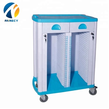 AC-RT010 medical equipments abs hospital instrument file record trolley for sale