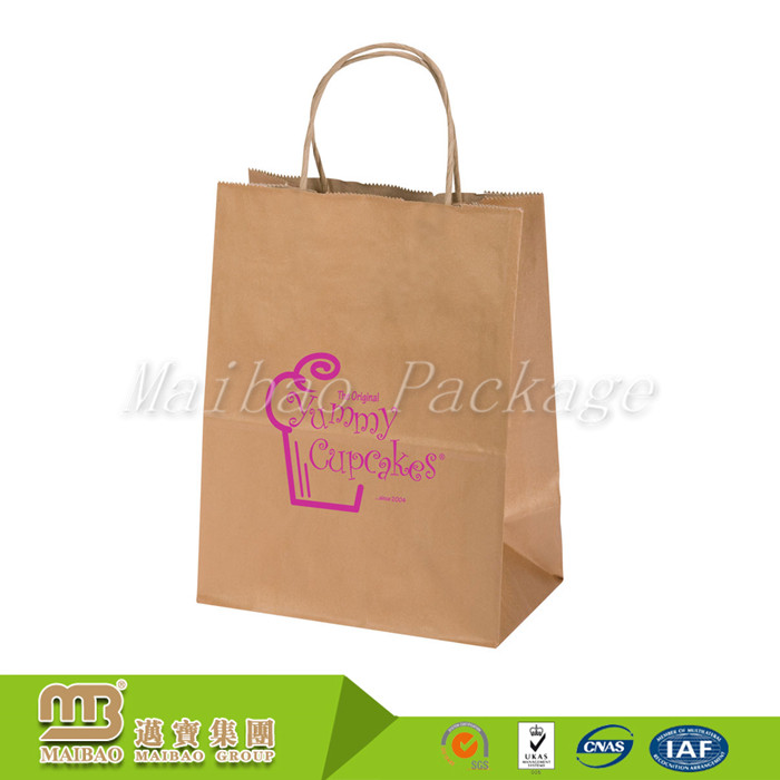 Factory Custom Different Colors And Sizes Brown Kraft Paper Bag For Cakes/Cupcakes