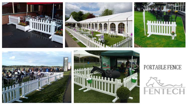 Fentech Widely Used Portable Picket Fence Temporary Fence
