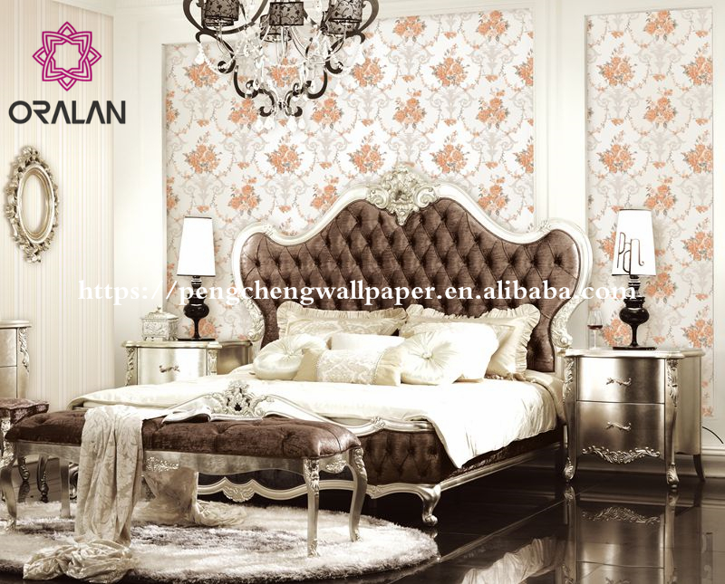 Factory price wholesale first choice pvc 3d flower mural wallpaper