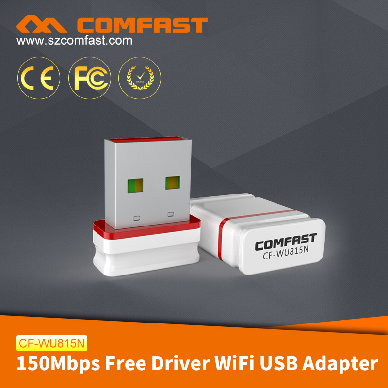 COMFAST CF-WU815N Cheapest Free Driver Realtek RTL8188GU 150Mbps Mini Pocket Wifi Adapter Wireless Dongle for Wholesale