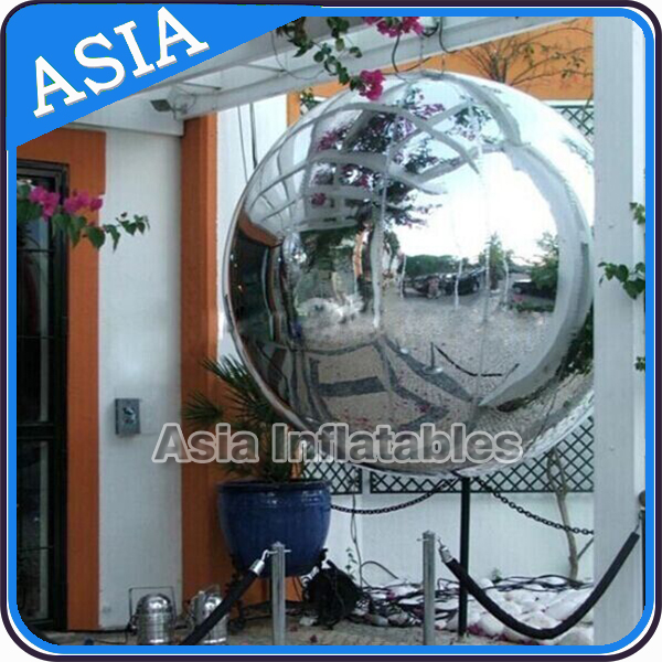 Hot Sell Decoration Inflatable Mirror Ball for Fashion Show, Colorful Inflatable Mirror Round Ball for Stage, T Show Mirror Ball