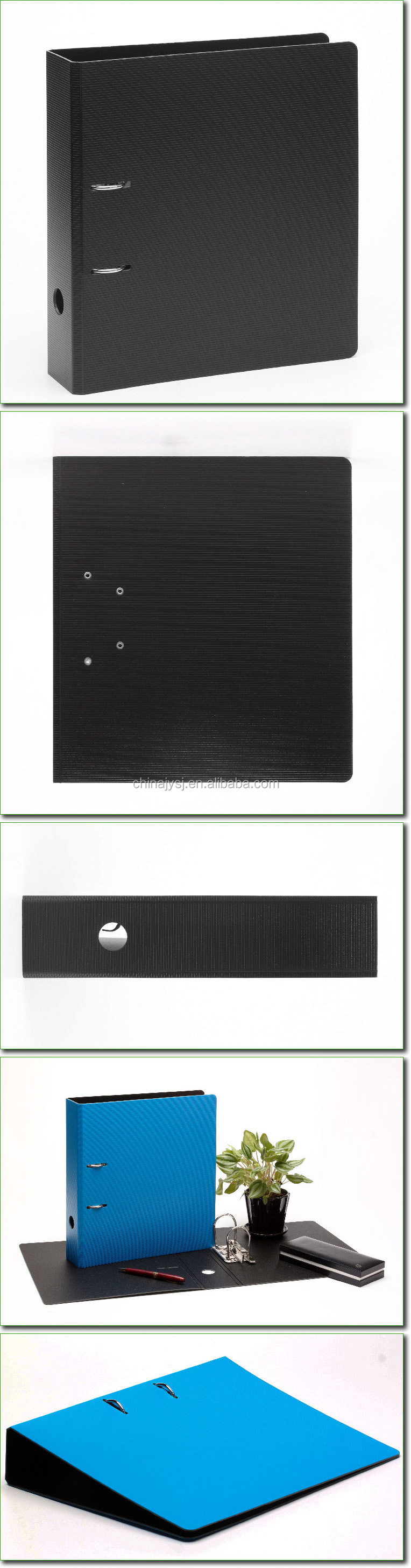 Stationery Office PP/PVC/Cardboard Black 3' A4 Lever Arch File