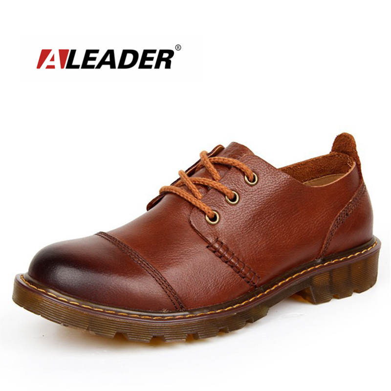 Aleader Men Leather Shoes Casual