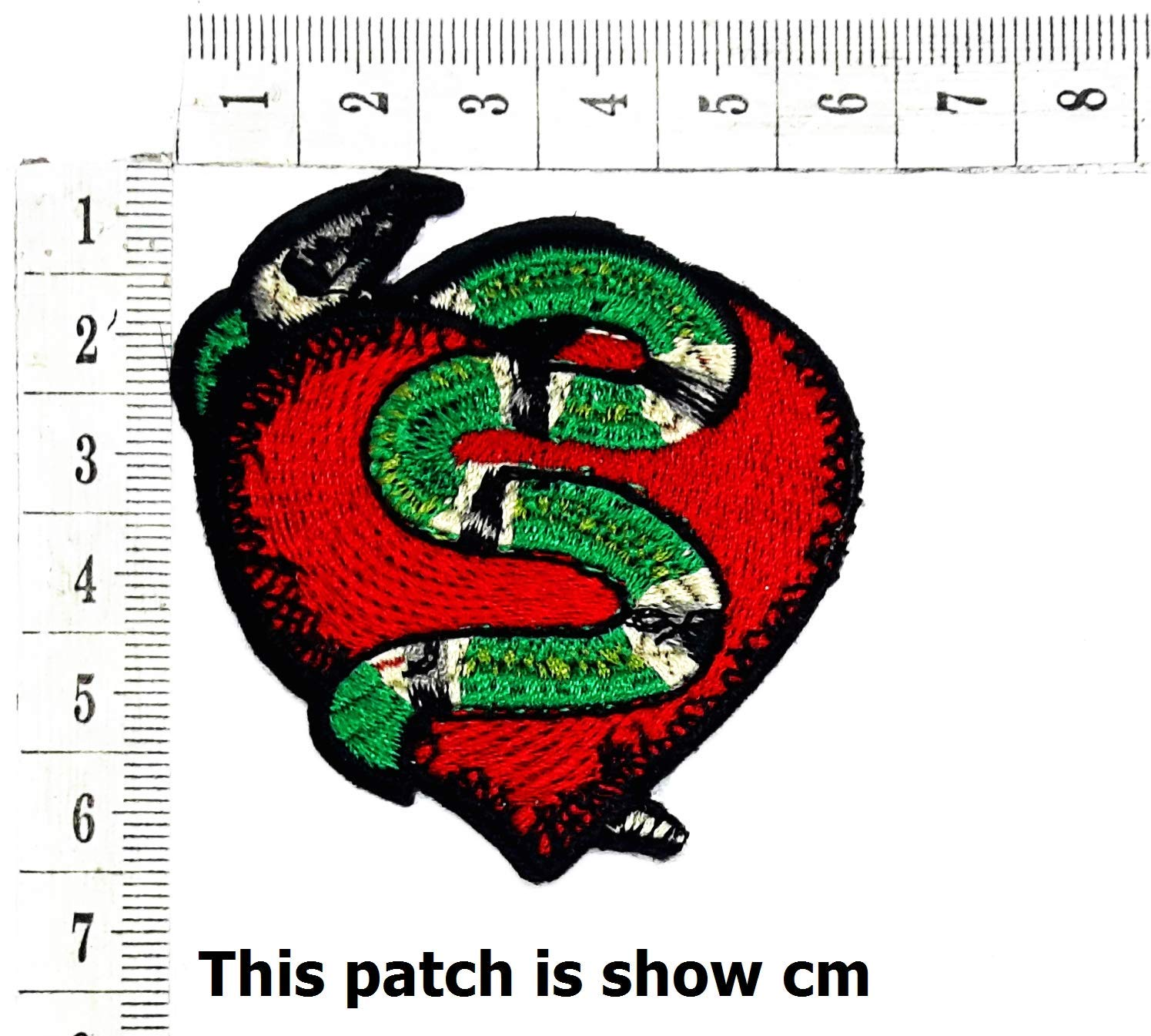 7a5395d53 Get Quotations · Red Heart Snake Snake Wild Animals Zoo Cartoon Chidren  Kids Embroidren Iron Patch/Logo Sew