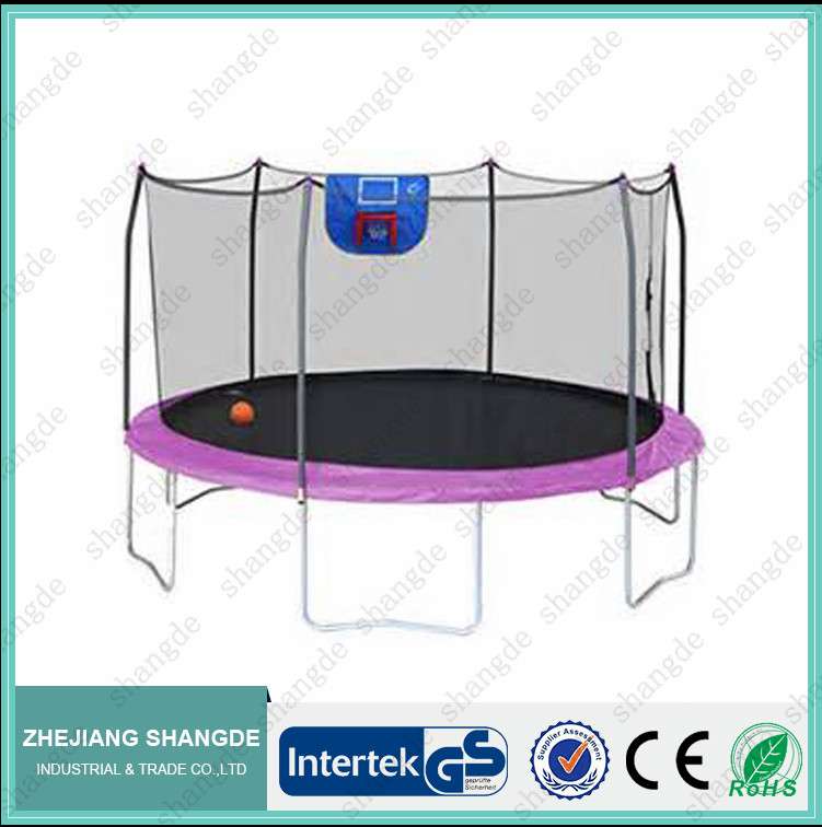 10 foot commercial small trampoline with basketball hoop