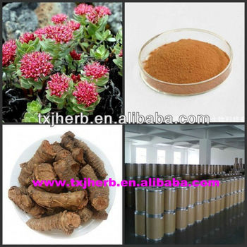 Factory supply rhodiola rosea extract/salidroside rosavin 3%