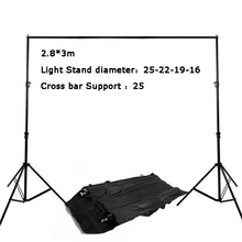 2.8*3m Background stand for wedding photo studio backgrounds and chroma key green screen