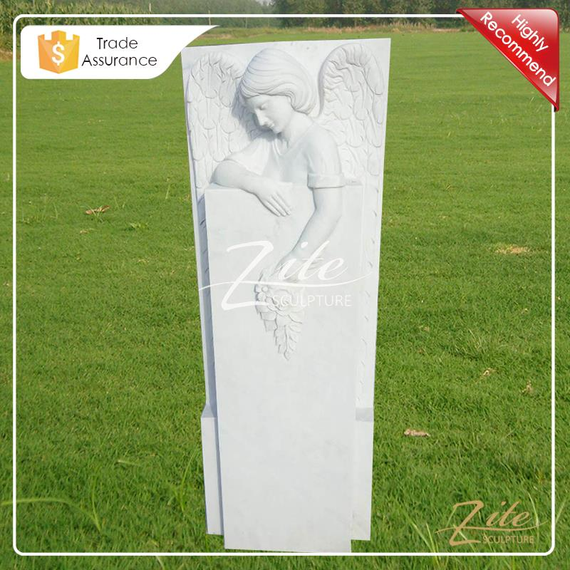 Hot Selling Classic white angel cemetery monuments