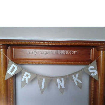 Burlap Wedding Bunting