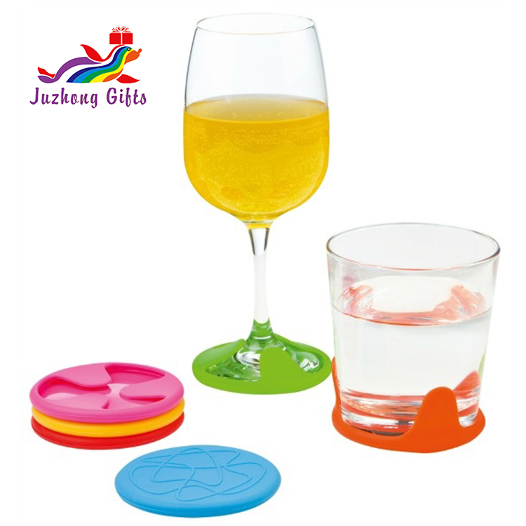 Custom Practical Silicone Wine Glass Mat,Non-slip Silicone Wine Glass Coasters/Silicone wine glass grip coaster