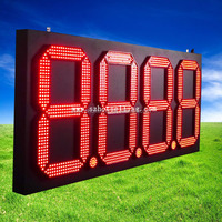 7 segment led display outdoor for led gas station price sign displaShenzhen Babbitt BT6A-8888R/Y/G/W Led digital gas price board