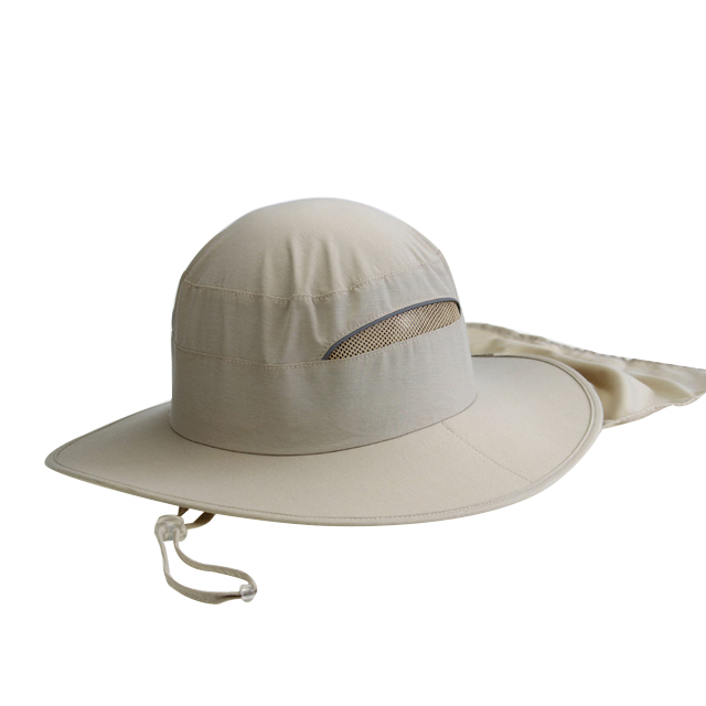 Dri Fit Fabric Outdoor Bucket Hats and Cap With Stowable Neck Shade Flap