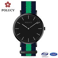 fashion black green OEM women minimalist watch,custom logo nylon minimalist watch
