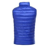 Wholesale OEM mens lightweight feather waistcoat winter sleeveless quilted down vest