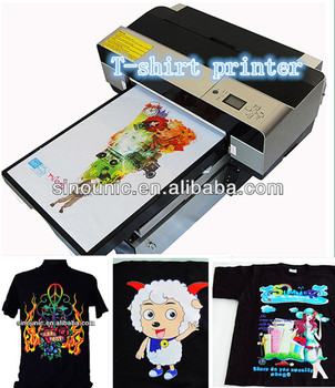 Direct To Garment Printer T Shirt Textile Printing Black