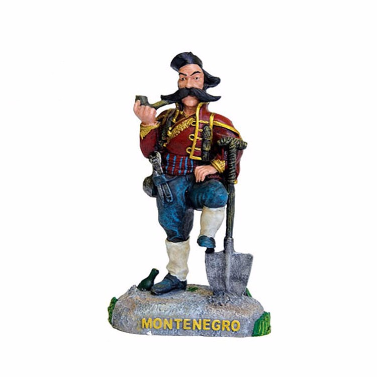 Custom Montenegro country souvenirs resin mascot figurine