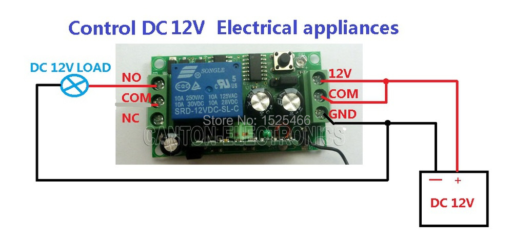 basic toggle switch wiring diagram momentary toggle switch wiring diagram dc 12v 433m led wireless remote control switch relay