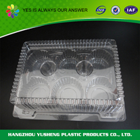 Clear rectangluar bakery packing box container